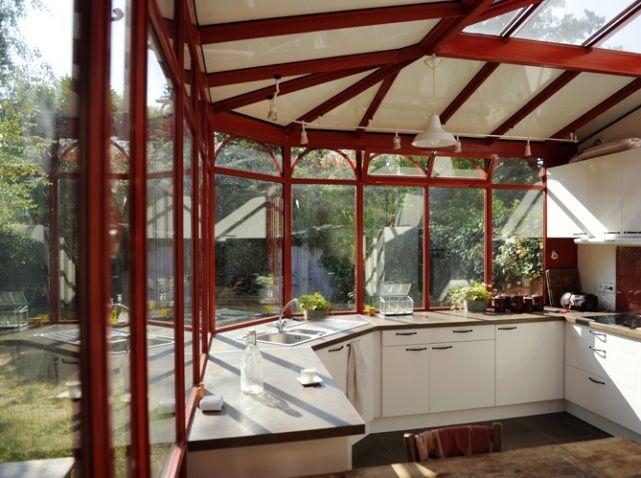 Les 25 meilleures id es de la cat gorie veranda cuisine for Extension cuisine veranda