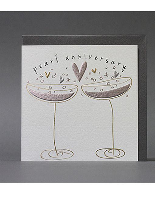 Pearl Wedding Anniversary Card. http://www.cardcrushgreetings.com/product/pearl-wedding-anniversary-card-2/