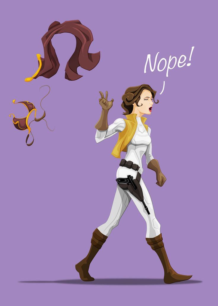 FINALLY! I am sick and tired of people rejoicing and drooling like there's no tomorrow over seeing Leia in that bikini.