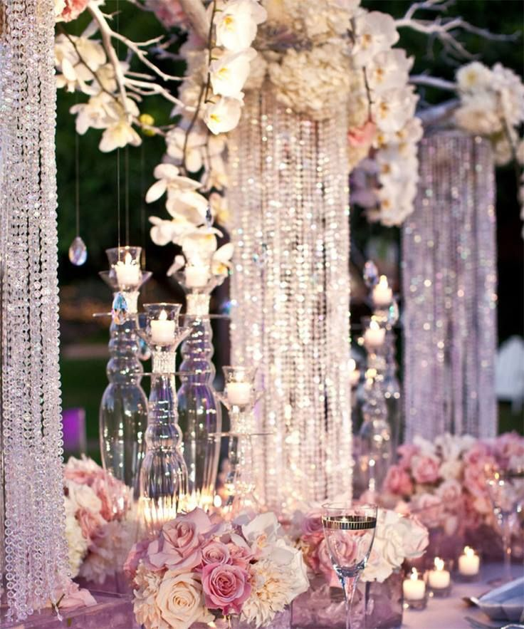 34 best chandelier centerpieces images on pinterest centerpieces chandelier centerpiece aloadofball Images