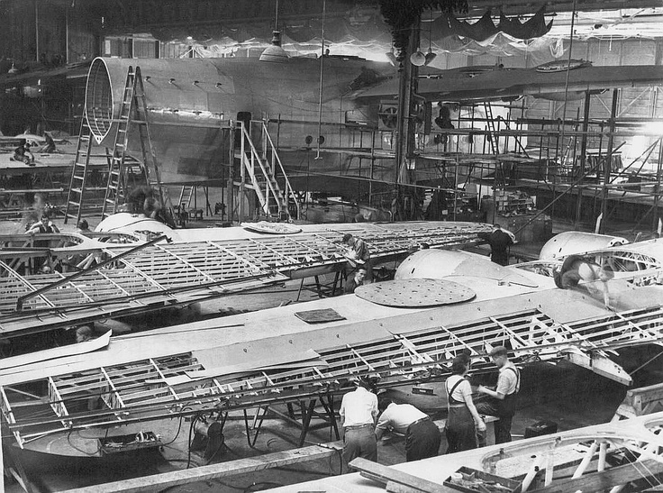Look at the scale of this Short Sunderland in the factory. MASSIVE.