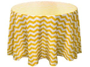 "Champagne/White Chevron Tablecloth, Size 108"" Round https://www.etsy.com/shop/Zemboor"