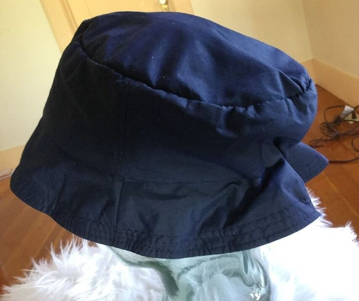 Lands Ends One Sz Ultrex Blue Sport Fishing Boat Rain Bucket Hat  | eBay