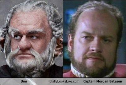 Dori (The Hobbit) Totally Looks Like Kelsey Grammer (Captain Morgan Bateson)  Star Trek Sci-fi Movie Space Movies Sci-fi Tv Series Meme