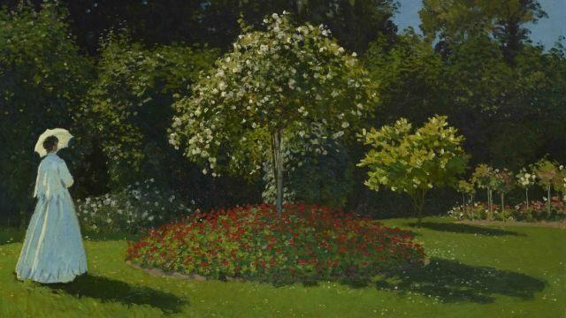 Claude Monet, Lady in the Garden, 1867 © The State Hermitage Museum. Vladimir Terebenin.