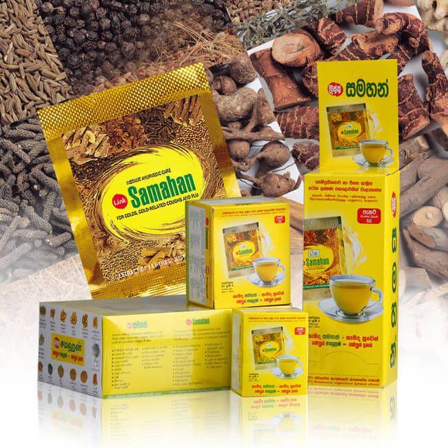 100 SAMAHAN Ayurveda Ayurvedic Herbal Tea Natural Drink for Cough & Cold remedy #LinkSamahan