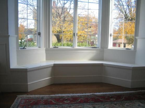 Image result for panelled bay window seat
