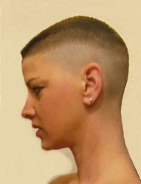 Beautiful. clipped cut hair shaved this