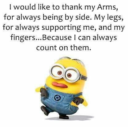 Minions, thankful                                                                                                                                                                                 More