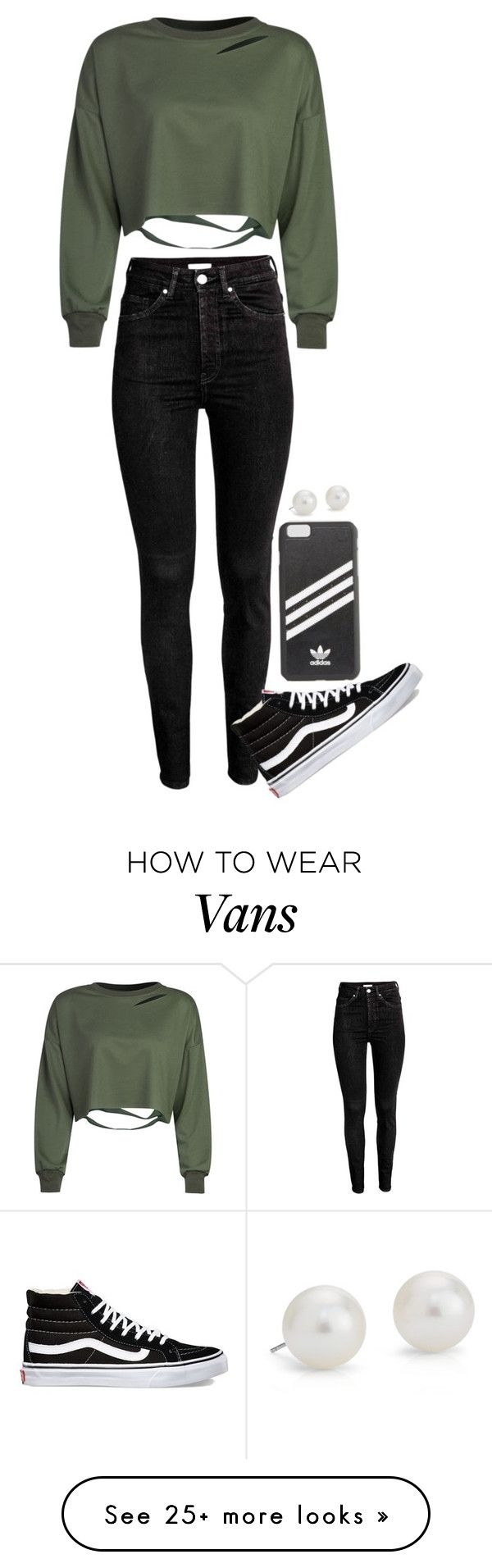 """A darker look???"" by cait926 on Polyvore featuring adidas, WithChic, Vans and Blue Nile"
