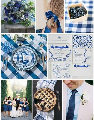 blue gingham wedding
