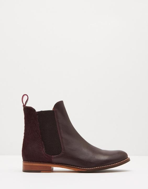 Joules Oxblood Suede Westbourne Leather Chelsea Boots
