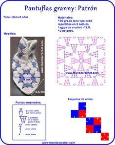 Pantuflas a crochet con cuadrados granny http://www.mundocrochet.com/pantuflas-crochet-con-cuadrados-granny-patron-y-paso-paso/?utm_source=feedburnerutm_medium=emailutm_campaign=Feed%3A+MundoCrochet+%28Mundo+Crochet%29