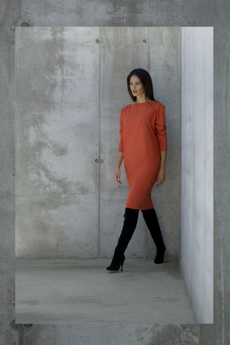 Stephanie Orange Dress