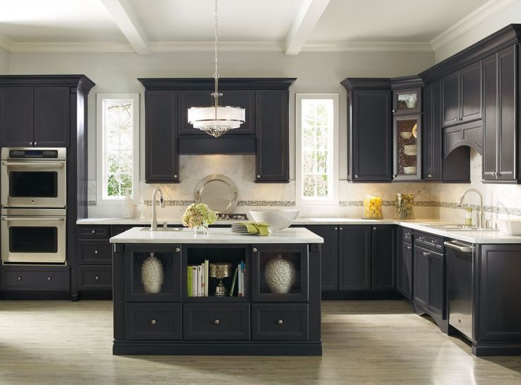 Black Kitchen Storage Cabinet Home Interior Design For Modern Kitchen