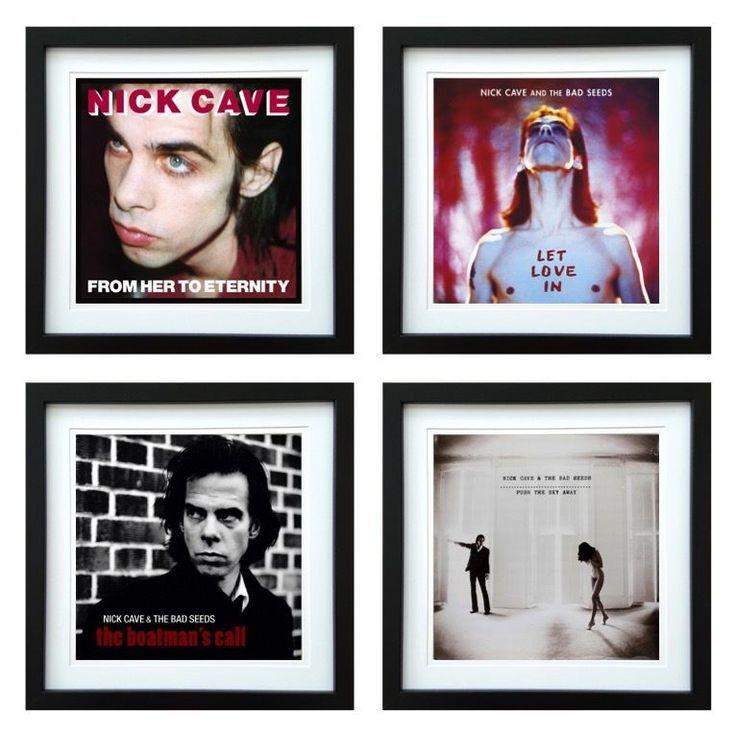 Nick Cave | Framed Album Art Set of 4 Images | ArtRockStore