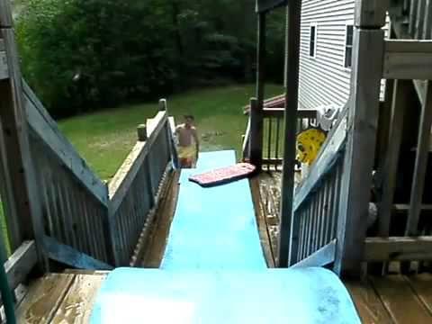 Crazy Homemade Water Slide