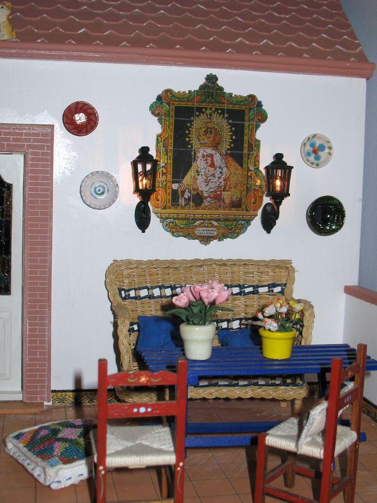 Casa popular Andaluza: azulejo terraza