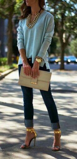 ♡ grenlist.com pins FABulousness! ♡ casual with gold accessories