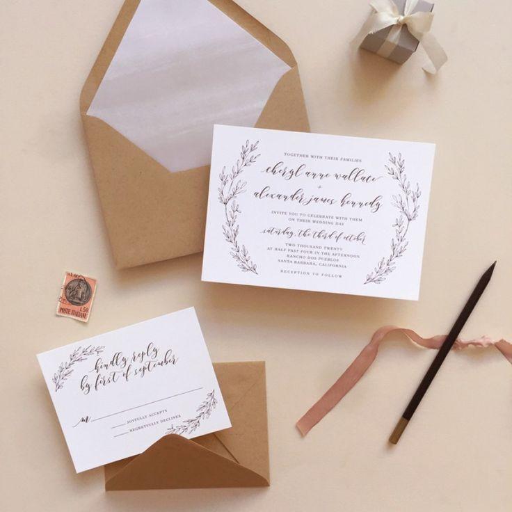 Leaflet Wedding Invitations | Smitten On Paper