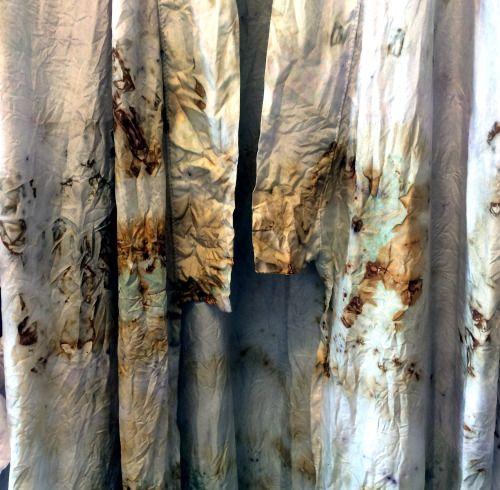 Kimono Detail - ALICE FINE DECAY #plantdye #naturaldye