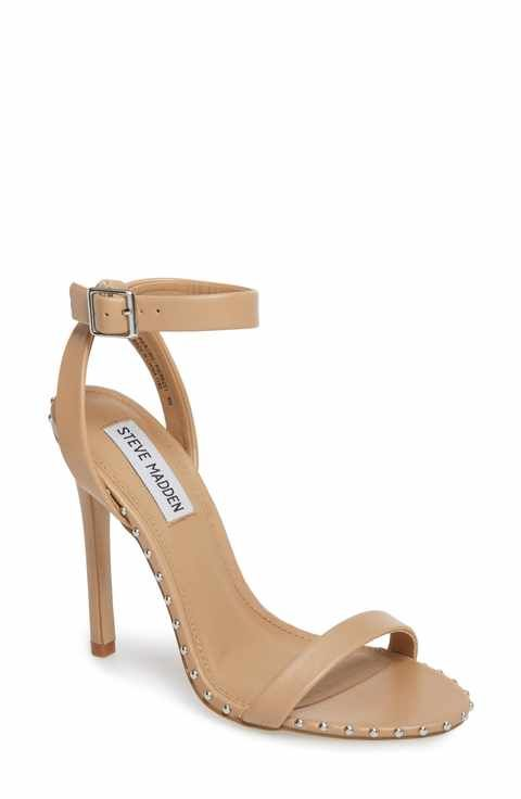 c71205922b Steve Madden Piercing Studded Sandal (Women) Pageant Shoes, Rush Outfits, Nude  Heels
