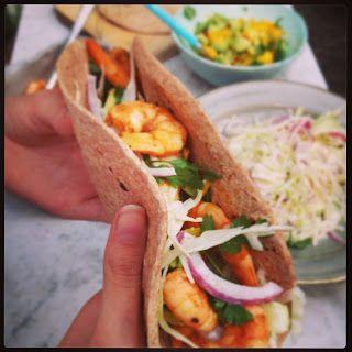 Taco dinner met garnalen