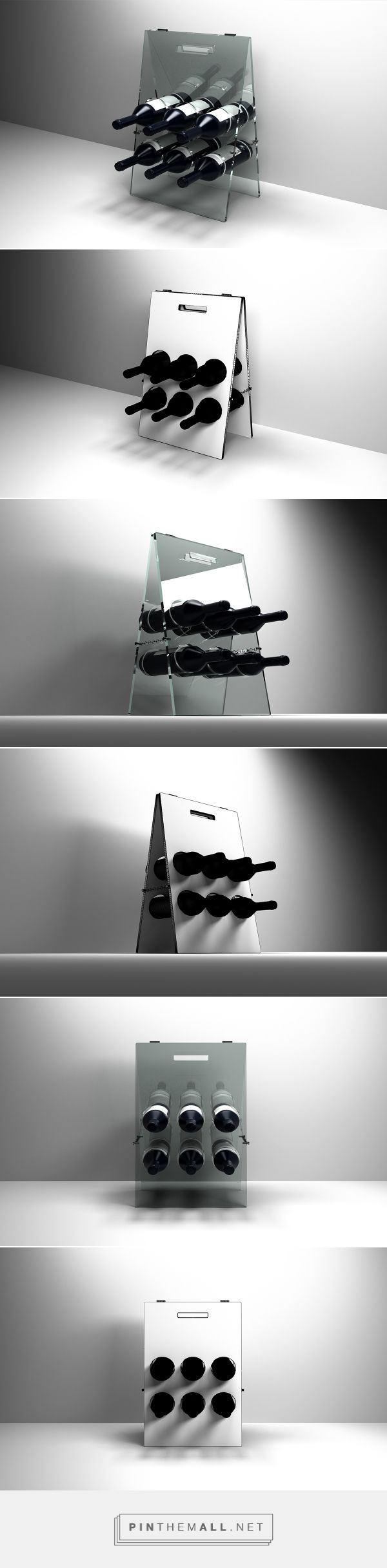 Expositor para garrafas de vinho/Wine bottles display by Tiago Nogueira