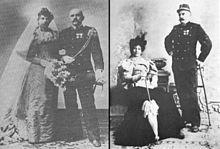 Huwelijk Margreet en Rudolf op 11 juli 1895.