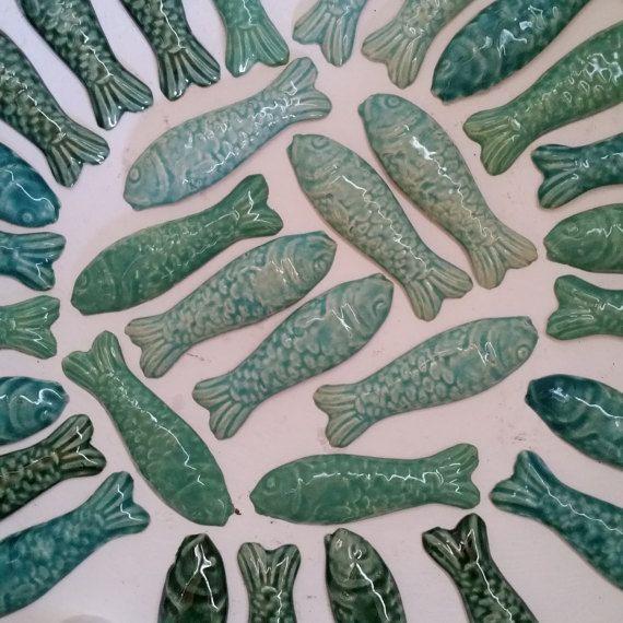 Vissen van keramiek mozaiekmateriaal vis klei door PutoetOrgnls