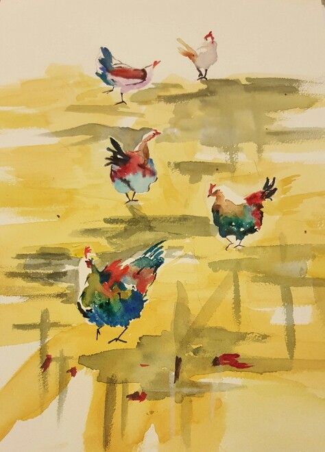 Colourful roosters...