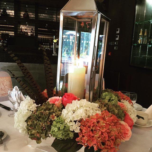 Feathers and flowers compliment this lantern perfectly. #weddingcenterpiece #weddinginspiration #weddingdecor #lanterns #feathers #sensationaleventsuk #nottinghamweddings #weddingflowers