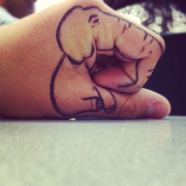 hand elephant