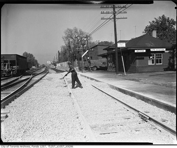 Weston Rail Station Toronto 1940's. Near Lawrence and Weston Rds,