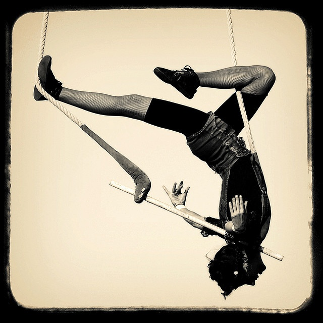 Static Trapeze - sort of like a Gazelle using the ropes?