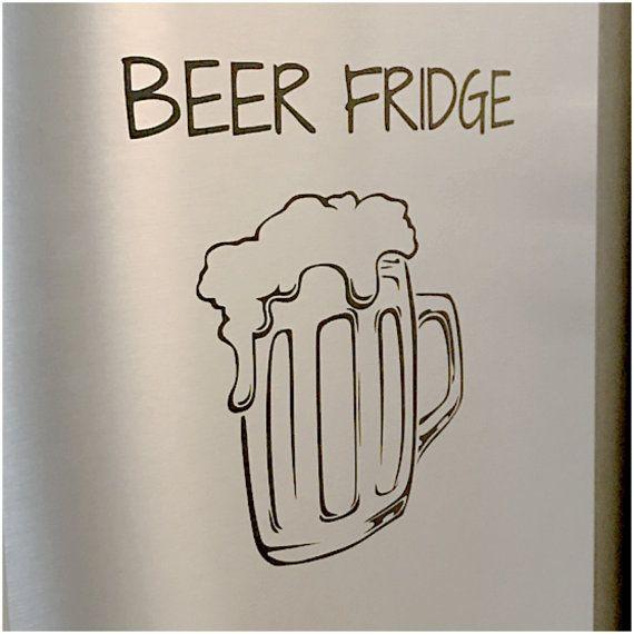 Beer Fridge Decal Refrigerator Vinyl Decal by DecalsEnFolie