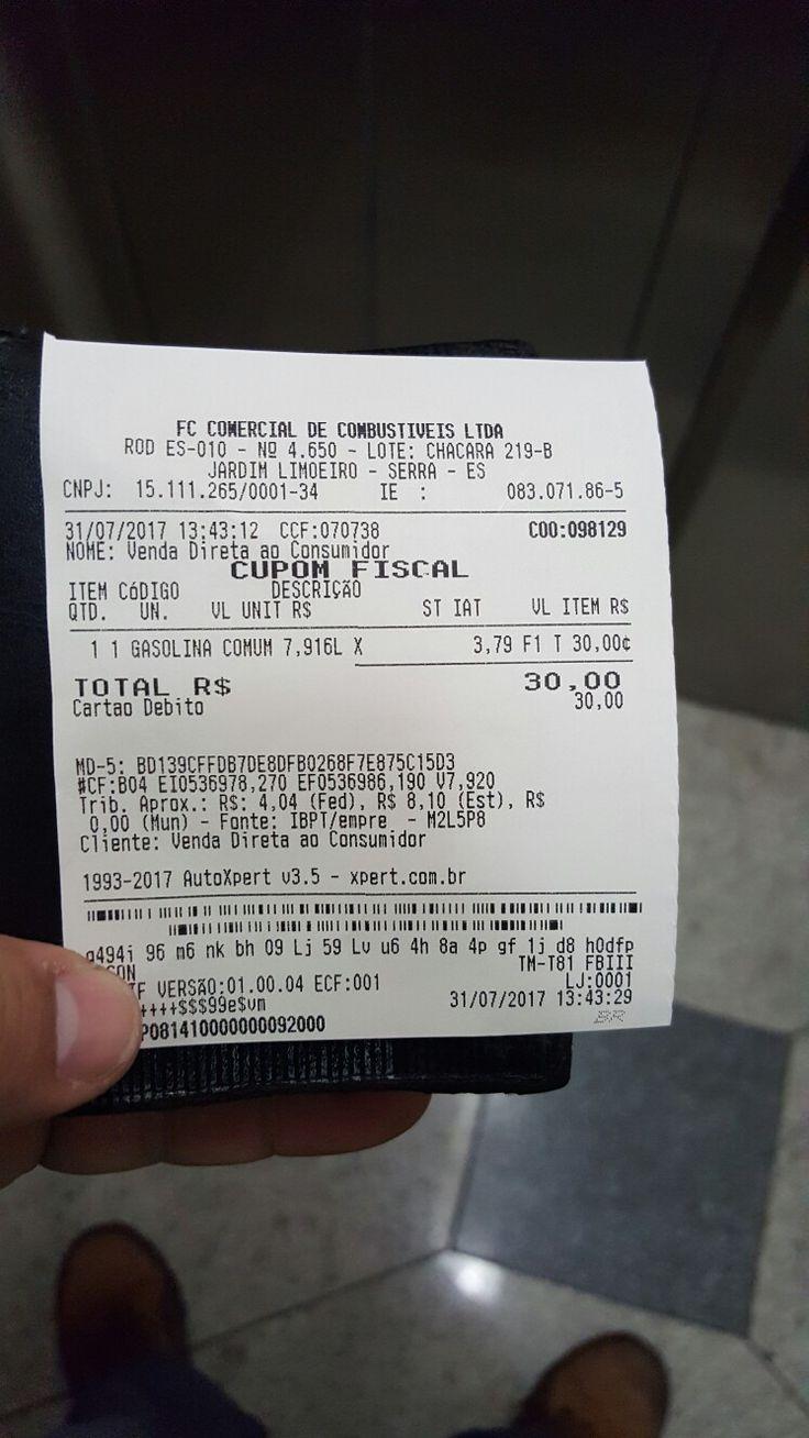Peça a nota fiscal. Abasteça 30 reais. Vamos forçar o preço da gasolina baixar.
