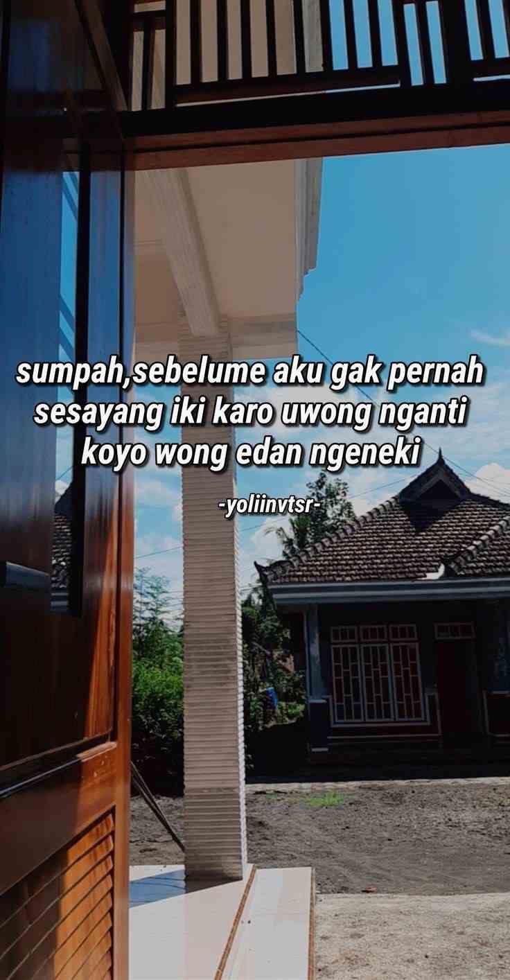 Ambyar 10 Kalimat Baper Pakai Bahasa Jawa Ini Bikin Galau Abi Kata Indah Kutipan Pelajaran Hidup Buku Remaja Real Estate Dalam Indonesia