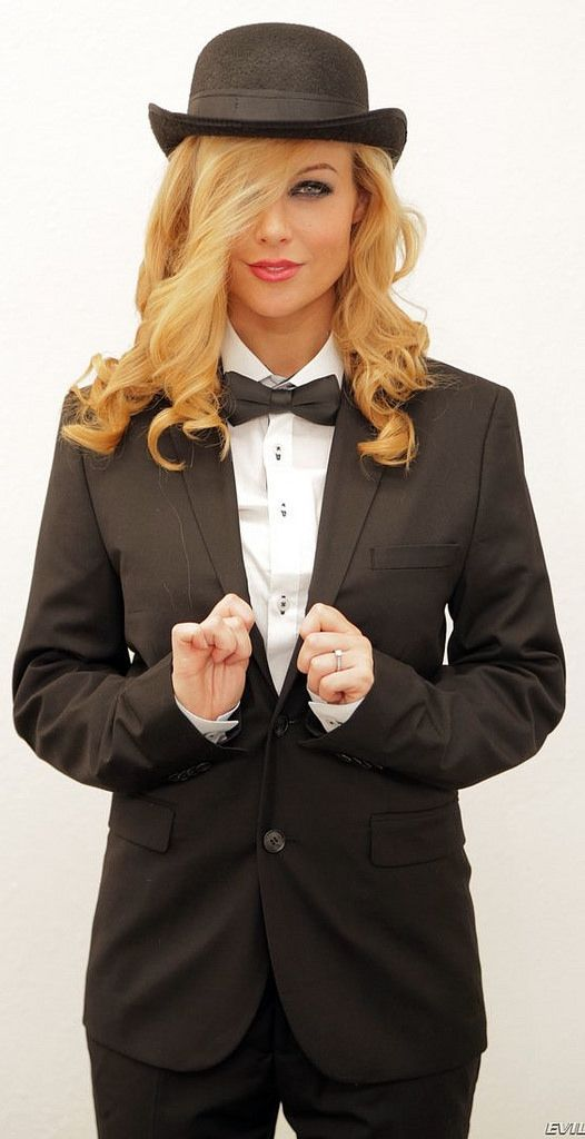 Dressed For Formal Occasion In Black Tuxedo Shirt Bow Tie And Hat   HatsForWomenDrawing 80e8d7e82182
