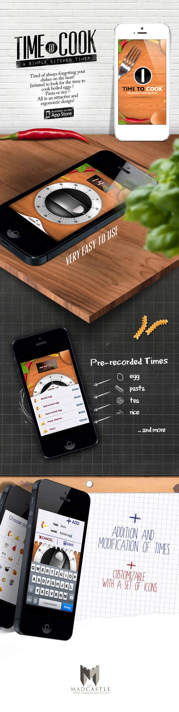 Time To Cook - a simple kitchen timer By Fourvinger *** #ios #gui #ui #apple