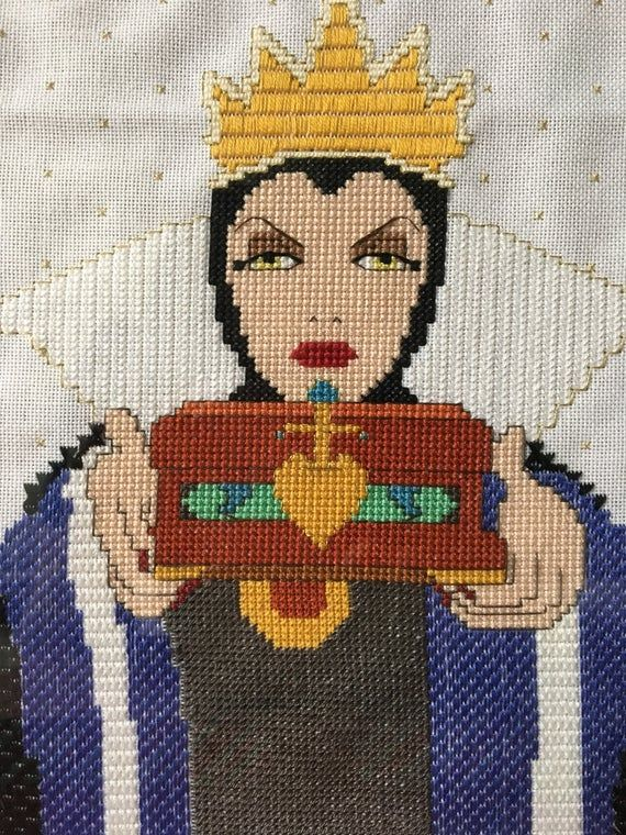 disney pattern instant download! PDF pattern Transformation Evil Queen cross stitch pattern Evil Queen pattern disney cross stitch