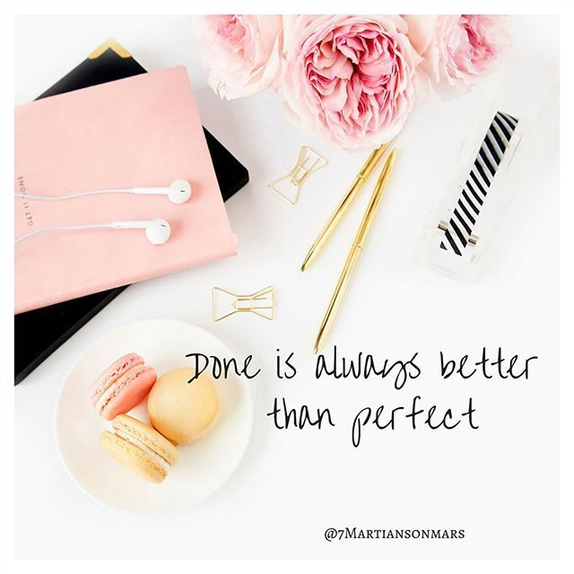 How many times is perfection holding us back from getting things done? We miss out on so many opportunities in our lives striving for some unrealistic level of perfection. #marketing #wahm #lifeshouldspark #mindset