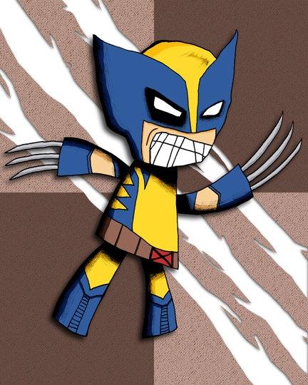 Wolverine Art Print XMen Illustration Super Hero ~ violintide..:)