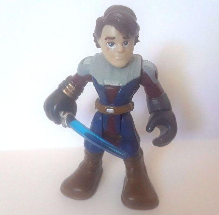 "2.5"" figure PLAYSKOOL/HASBRO Star Wars ANAKIN  SKYWALKER blue lightsaber"