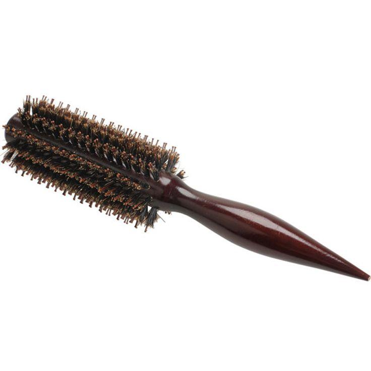 Draagbare Natuurlijke Haren antistatische Krullend Hout Handvat Haarverzorging Styling Kam Radial Borstel Kappers Tool Voor Salon/thuis