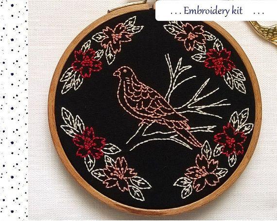 Embroidery KIT  Embroidery pattern  by petitetoiledumatin on Etsy