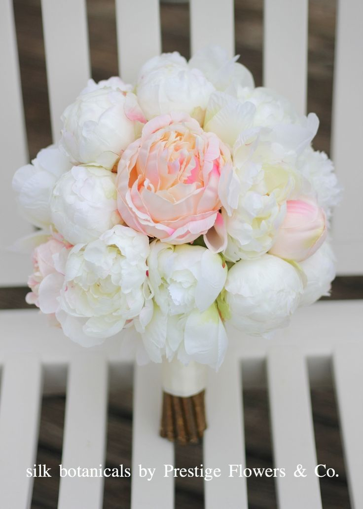 Hire (Melbourne only) or have custom made: silk peony bouquet by Prestige Flowers & Co.