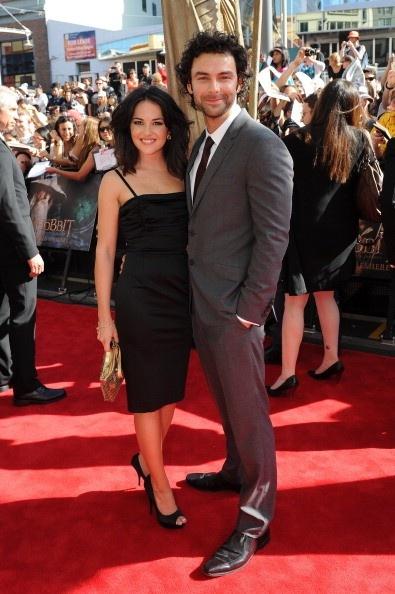 Aidan Turner and his girlfriend Sara Greene