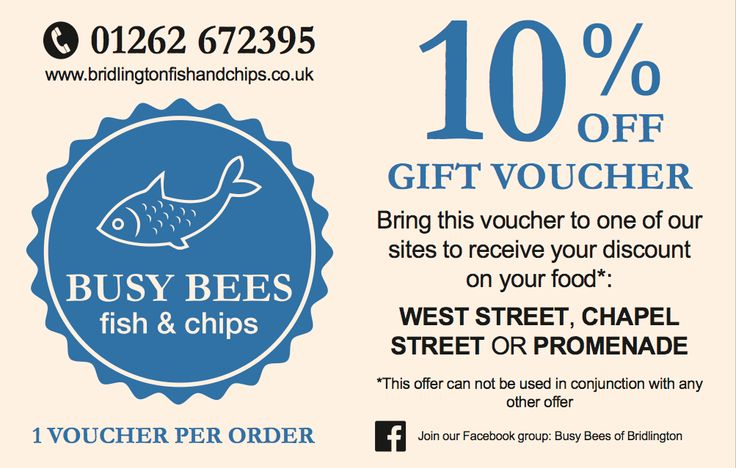 Busy Bees Fish & Chips - Gift Voucher | Design by Yorkshire Media