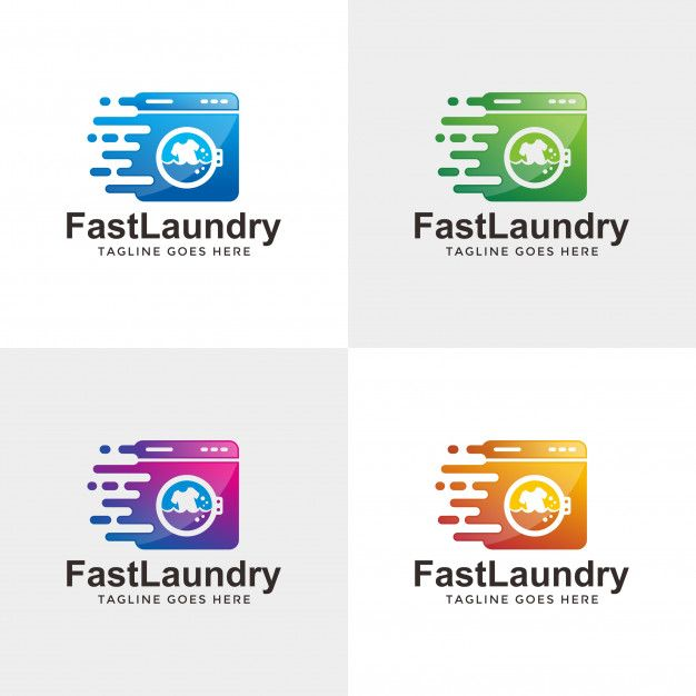 Quick Modern Laundry Logo Design